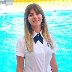 dolphin therapy specialist Anna Ihorivna Sholoshenko, photo