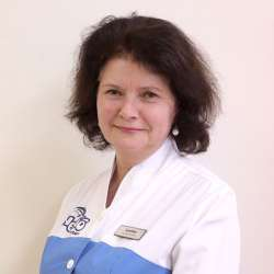 dolphin therapy specialist Larysa Kostiantynivna Boholiubova, photo