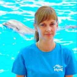 specialist în terapie cu delfini Kuzmina Maria, fotografie